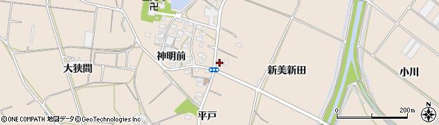 愛知県田原市西神戸町(中田)周辺の地図