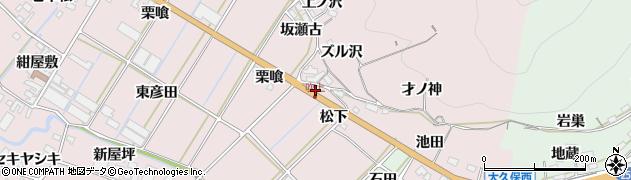 愛知県田原市野田町(松下)周辺の地図