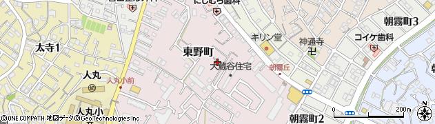 兵庫県明石市東野町周辺の地図