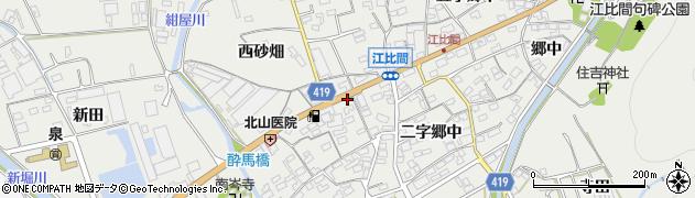 愛知県田原市江比間町周辺の地図