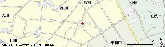 愛知県田原市神戸町(東山田)周辺の地図