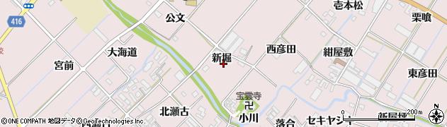 愛知県田原市野田町(新堀)周辺の地図