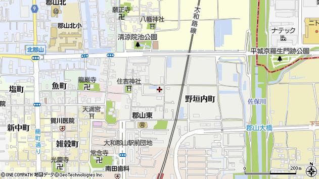 〒639-1131 奈良県大和郡山市野垣内町の地図