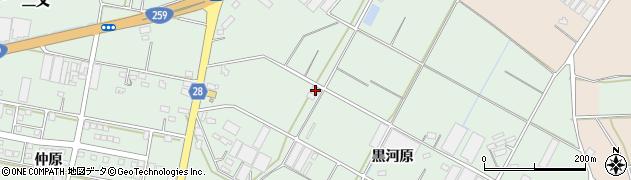 愛知県田原市大久保町(黒河原)周辺の地図