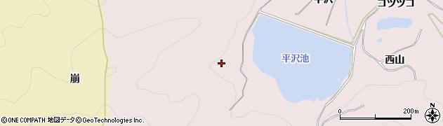 愛知県田原市野田町(西山)周辺の地図