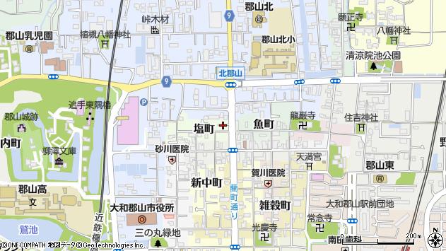 〒639-1169 奈良県大和郡山市塩町の地図