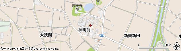 愛知県田原市西神戸町(神明前)周辺の地図