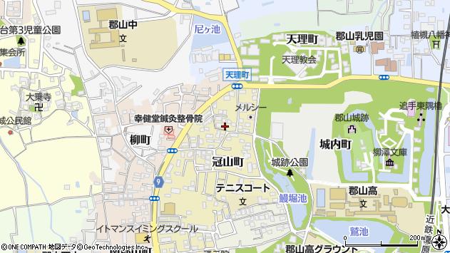 〒639-1018 奈良県大和郡山市冠山町の地図