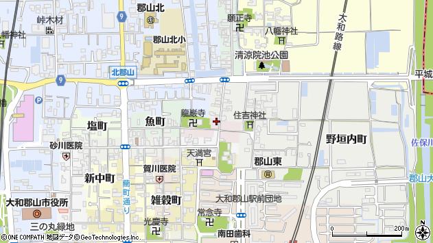 〒639-1166 奈良県大和郡山市中鍛冶町の地図