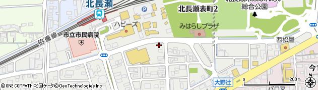 岡山県岡山市北区北長瀬表町周辺の地図