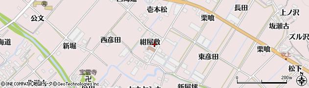愛知県田原市野田町(紺屋敷)周辺の地図
