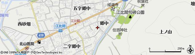 愛知県田原市江比間町(郷中)周辺の地図