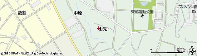 愛知県田原市六連町(山先)周辺の地図