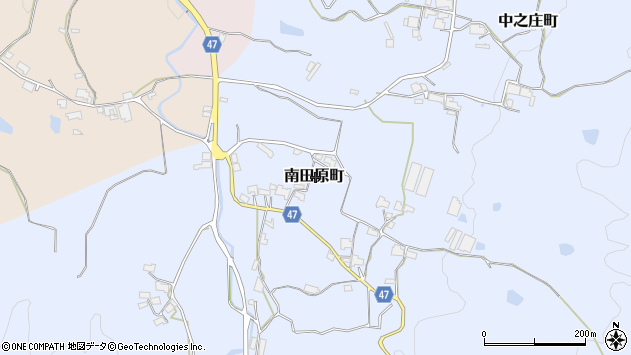 〒630-2164 奈良県奈良市南田原町の地図