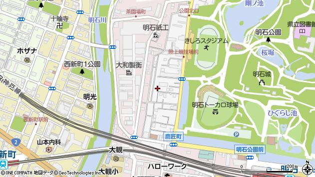 〒673-0848 兵庫県明石市鷹匠町の地図