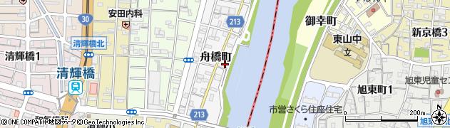 岡山県岡山市北区舟橋町周辺の地図