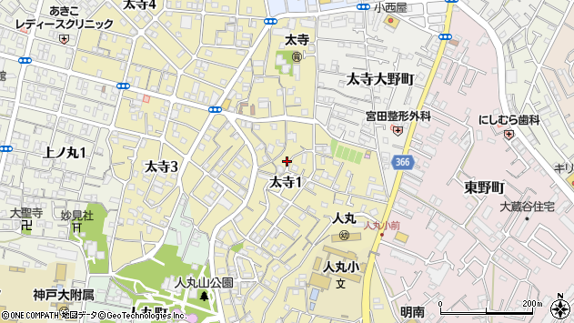 〒673-0845 兵庫県明石市太寺の地図