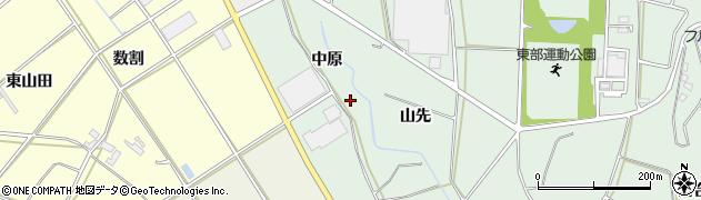 愛知県田原市六連町(中原)周辺の地図