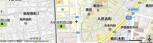 岡山県岡山市北区大供本町周辺の地図