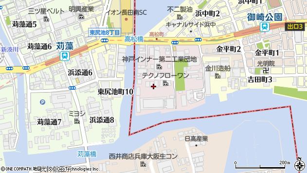 〒652-0874 兵庫県神戸市兵庫区高松町の地図