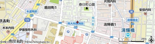 岡山県岡山市北区大学町周辺の地図