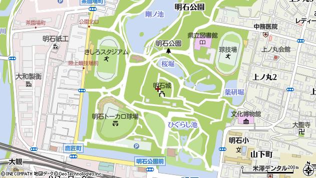 〒673-0847 兵庫県明石市明石公園の地図