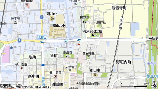 〒639-1165 奈良県大和郡山市北鍛冶町の地図