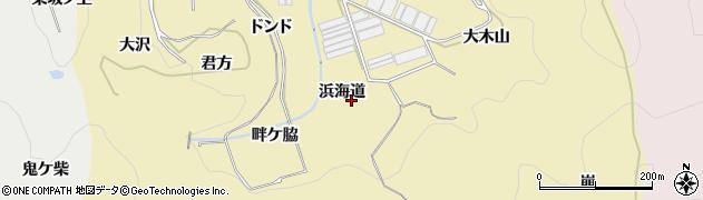 愛知県田原市宇津江町(浜海道)周辺の地図
