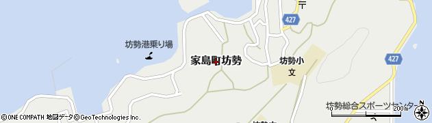 兵庫県姫路市家島町坊勢周辺の地図