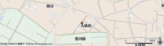 愛知県田原市西神戸町(大新田)周辺の地図