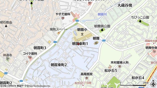 〒673-0860 兵庫県明石市朝霧東町の地図