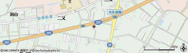 愛知県田原市大久保町(七ツ釜)周辺の地図