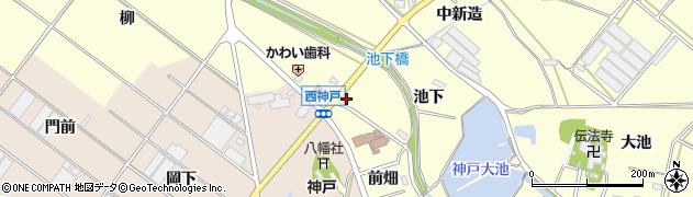 愛知県田原市神戸町(前畑)周辺の地図
