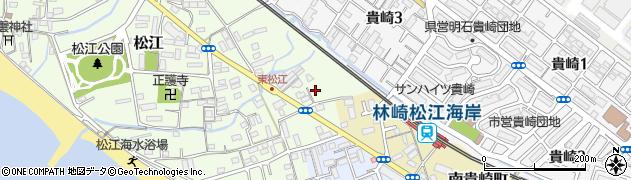 兵庫県明石市松江東野周辺の地図