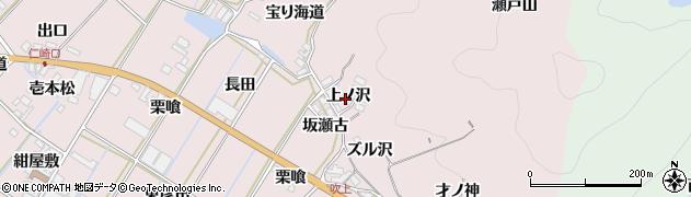 愛知県田原市野田町(上ノ沢)周辺の地図