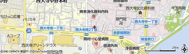奥田歯科医院周辺の地図