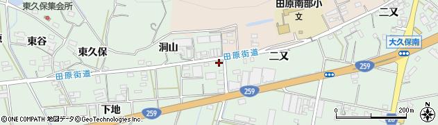 愛知県田原市大久保町(仲ノ坪)周辺の地図