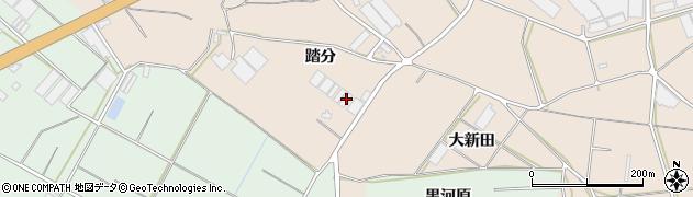 愛知県田原市加治町(踏分)周辺の地図