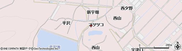 愛知県田原市野田町(コツツコ)周辺の地図