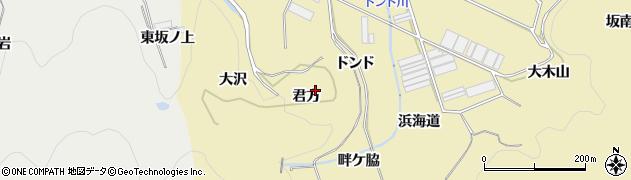 愛知県田原市宇津江町(君方)周辺の地図