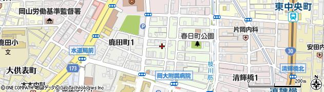 岡山県岡山市北区春日町周辺の地図
