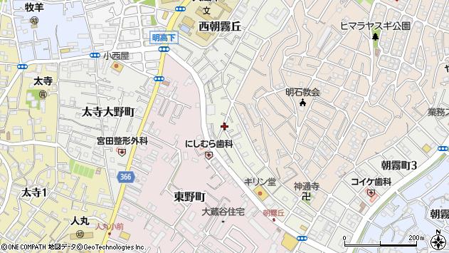 〒673-0855 兵庫県明石市中朝霧丘の地図