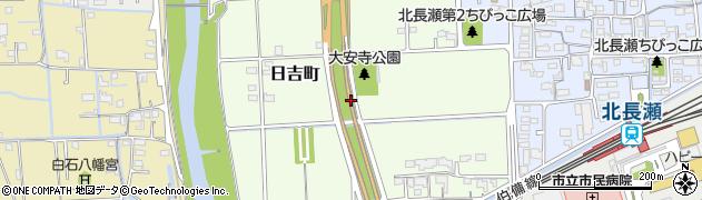 岡山県岡山市北区日吉町周辺の地図