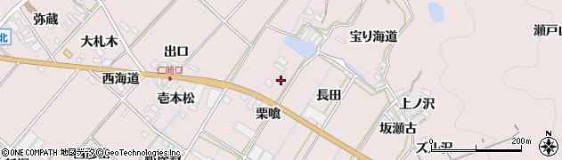 愛知県田原市野田町(長田)周辺の地図