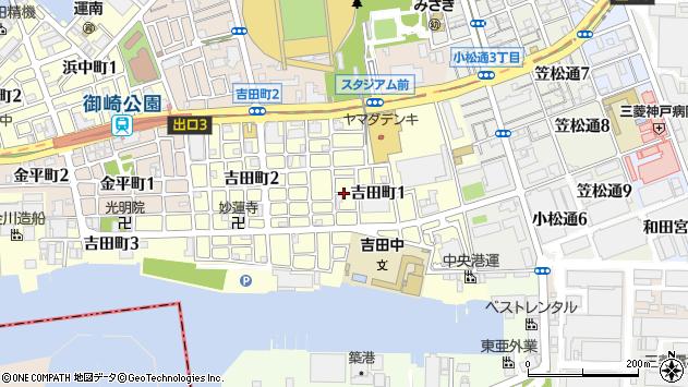 〒652-0872 兵庫県神戸市兵庫区吉田町の地図