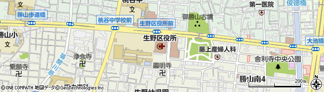 大阪府大阪市生野区周辺の地図