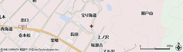 愛知県田原市野田町(宝り海道)周辺の地図