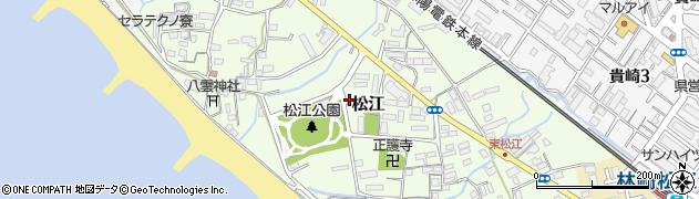 兵庫県明石市松江周辺の地図