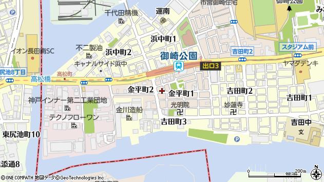 〒652-0873 兵庫県神戸市兵庫区金平町の地図