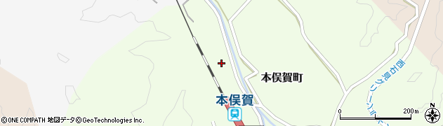 島根県益田市本俣賀町周辺の地図